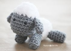 Lamb Cut Out Pattern | Repeat Crafter Me: Crochet Lamb Pattern and Baby Mobile