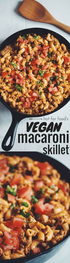 gluten-free & vegan macaroni skillet (aka Hamburger Helper!) (Omit oil for WFPB recipe.) | RECIPE on http://hotforfoodblog.com