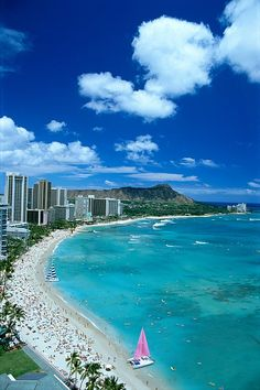Waikiki Beach :-) It's been a long time since I've see you, but I'm going back someday...i hope.