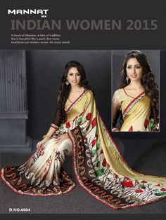 heritage vol.06 satin printed sarees with fancy lace