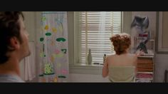 """Enchanted (2007) - Shower scene (HD)- This scene is the funniest thing! Amy is so sweetly oblivious to what she caused and Idina is so sassy and pissed! """"I didn't know you were worried about crowd control!"""" """"What, so you can have some grown up girl bonding time?"""" Love it!"""