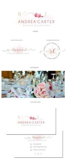 Branding kit logo design Wedding planner logo by JassnaDesign #wedding planner logo #flower decoration branding kit #wedding planner event logo #photographer logo #flower decoration branding kit