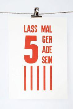 "Druck ""Gelassenheits-Poster"" // Print by monas DickyBird via DaWanda.com"