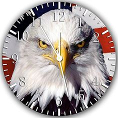 """New American Flag Eagle Wall Clock 10"""" Will Be Nice Gift and Room Wall Decor Z144 Ikea http://www.amazon.com/dp/B00UDGMM66/ref=cm_sw_r_pi_dp_.xt.ub0P1F55W"""