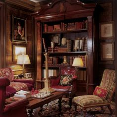 I dismiss, out of hand, the notion of a living room...I want mine to be called the Study or Retiring room.