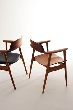 Wooden dining chairs.