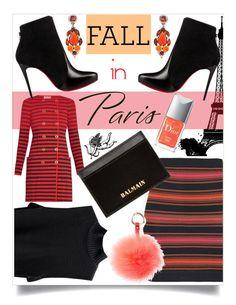"""Fall in Paris"" by na-pan on Polyvore featuring Mode, Sonia Rykiel, Balmain, Christian Louboutin, Kenneth Jay Lane und RAJ"