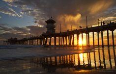https://flic.kr/p/8FdXdu | Sunset Silhouette @ Huntington Beach Pier | HB Pier at Sunset Huntington Beach, CA
