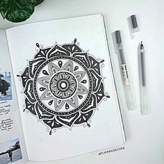 A week off! So enough time to sit, relax, and draw a mandala!    #bulletjournal #study #mandala #blackart #planner    #Regram via @planningroutine