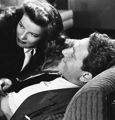 """Sam: I love you. // Tess: You do? //  Sam: Positive. //  Tess: That's nice. Even when I'm sober? // Sam: Even when you're brilliant."" - Spencer Tracy and Katharine Hepburn in Woman of the Year, 1942"