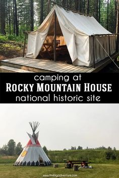Rocky Mountain House National Historic Site is a hidden Alberta gem! This beautiful Parks Canada site offers camping, Trapper's Tent, Tipi and Trapline Cabin experiences, an interpretive centre, hiking and so much more! We enjoyed our stay here immensely! Canada Site, Great Places, Places To Go, Alberta Travel, Canadian Travel, Parks Canada, Beautiful Park, Go Camping, Historical Sites