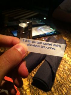 Jon Cozart found this in his fortune cookie... I LOVE IT!