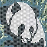 Схема узора для бисера панда
