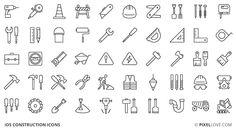 50 Construction Icons for iOS (PSD)   Psdblast