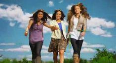 Miley Stewart/Hannah Montana (Miley Cyrus), Alex Russo (Selena Gomez), Sonny Munroe (Demi Lovato)