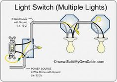 wiring diagram for multiple lights on one switch power coming in bathroom light wiring diagram at Bedroom Light Wiring Diagram