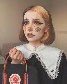 Fancy Makeup, Cool Makeup Looks, Edgy Makeup, Creative Makeup Looks, Eye Makeup Art, Clown Makeup, Crazy Makeup, Cute Makeup, Pretty Makeup