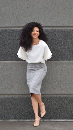 Best And Stylish Business Casual Work Outfit For Women 30 Summer Work Outfits, Casual Work Outfits, Work Casual, Classy Outfits, Outfit Work, Chic Outfits, Casual Work Clothes, Office Skirt Outfit, Summer Office Outfits