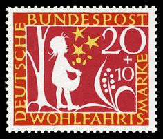 German stamp. Series for social welfare 1959, fairy tale of the Brothers Grimm