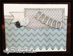 Hooray Card using the new Frosted Paper Pack. #CTMH #PaperCrafting {created by Mandy Leahy}