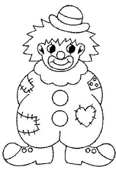 Clown Coloring Pages   Coloring pages for kids to print - Last additions/clown-coloring-pages ...