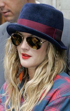 Sunglasses hat hair. guh.