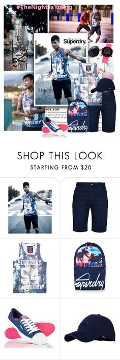 """""""The Night is young"""" by lacas ❤ liked on Polyvore featuring Superdry, adidas, men's fashion, menswear, superdry and thenightisyoung"""