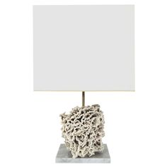 French Specimen Lamp with White Sea Coral