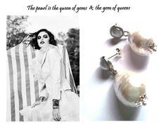 """Orecchini """"Double pearls"""" con perle barocche bianche : Orecchini di wildrose"""