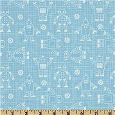 Robot Factory Organic Robot Schematics Light Blue  Item Number: ER-896  Our Price: $9.98 per Yard