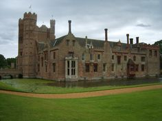 Oxburgh Hall in Norfolk. Another lovely moated house. It's a long way to go, but worth it. Gardens are not the most exciting but the house is great.