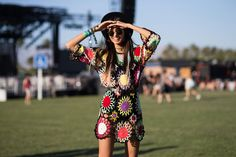 YES!! And they cropped out the horrible shoes for good measure. So it's really a tunic/oversized top belted into a dress. Love it. (Coachella 2015)
