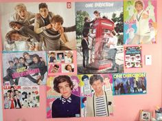 I rearranged some of my 1D posters! (I have more) what do you guys think? COMMENT ⬇️⬇️⬇️