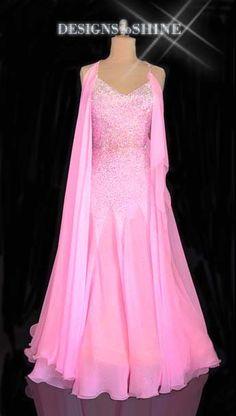 8627f86fd9d1 B16117 Pink Perfection – Designs to Shine Ballroom Dance Dresses, Ballroom  Dancing, Wedding Suits