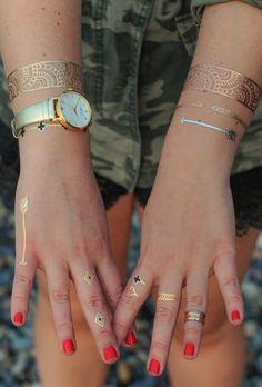 Metallic Ring Tattoos    By TribeTats
