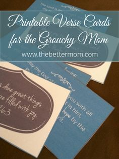 From Grouchy to Great Verse Cards {printable}