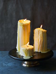 Candle cakes - our treat of choice for Halloween