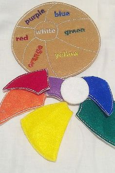 SALE Learn your colors flower game puzzle by itsthesmallthings
