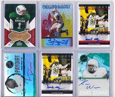 Baylor football cards. Including the first 1/1 Rookie card autograph of Javonte Magee, a 1/1 Rookie card of Kendall Wright, and a 1/1 autographed Rookie card of Terrance Ganaway