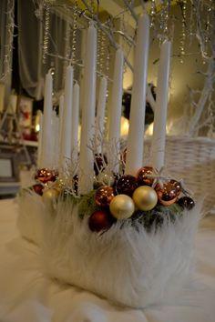 květiny - Vánoční květinová dekorace - Vánoční svícny - Svícen 26