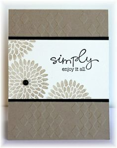 Embossed card base