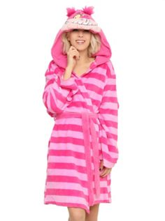 Disney Alice In Wonderland Cheshire Cat Girls Hooded Robe, Pijama Disney, Disney Pajamas, Visual Kei, Daisy Donald, Disney Outfits, Cute Outfits, Disney Clothes, Chesire Cat, Girls Sleepwear
