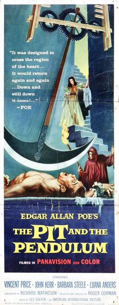 """""""The Pit and the Pendulum"""" (1961) ~ Starring Vincent Price as Nicholas Medina in this Edgar Allan Poe adaptation"""