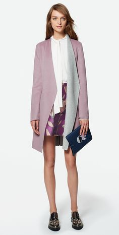MAX&Co. SS 2016 - Reversible Coat CAFFE / Blouse COPPIA / Mini Skirt PAN / Tablet Case ABSIDE / Shoes AFELIO