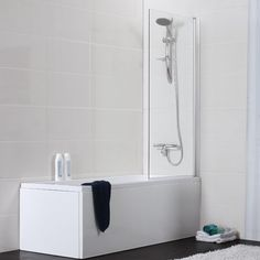 Badkar Noro Single med Duschvägg - Standardbadkar - Badkar - Bygghemma.se badrum övre