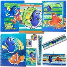 Disney Princess School Supplies 12 Pc Value Pack Notebook Folders Pencil Sharpener Pencils Stickers and More Eraser