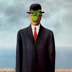 "Renee Magritte ""The son of man"""