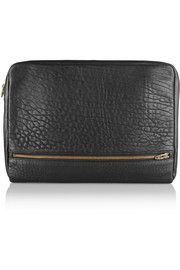Alexander Wang Fumo pebbled-leather laptop case