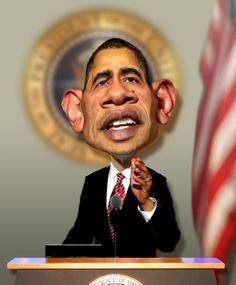 Barack Obama Portrait  @RodneyPike http://rwpike.blogspot.com/