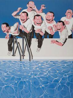 MINJUN YUE - TAKE THE PLUNGE - WENG CONTEMPORARY http://www.widewalls.ch/artwork/minjun-yue/take-the-plunge/ #print